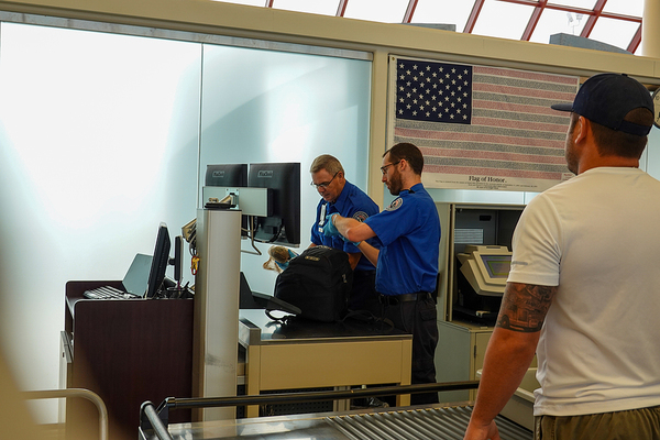 Airport security.