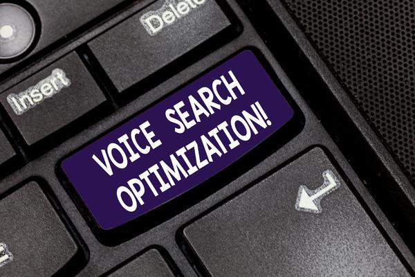 Voice search optimization.