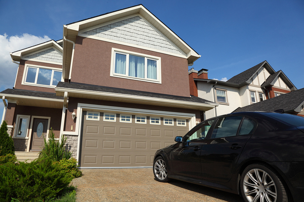Home with car and garage