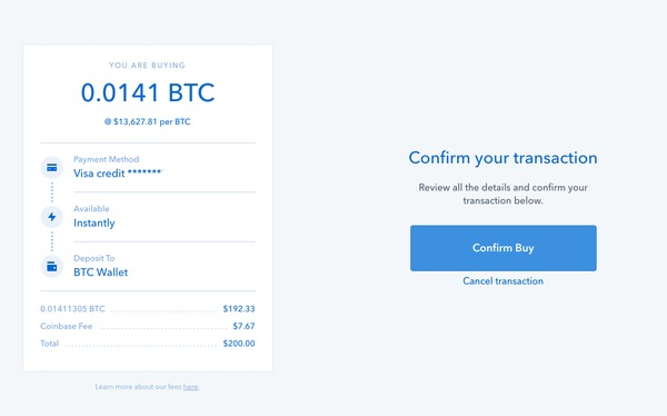 how to buy instantly on coinbase