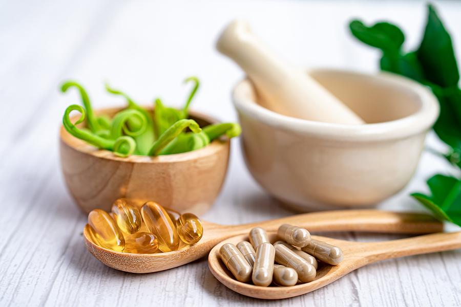 Herbs and vitamins.