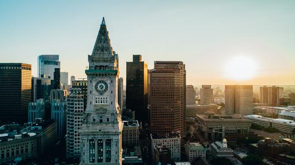 Boston city sky line