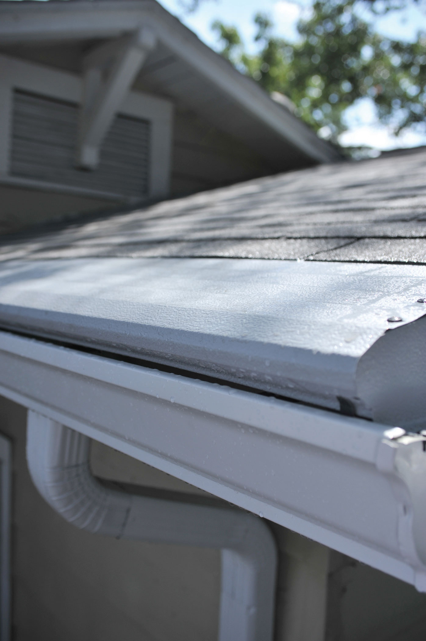 New england gutters that are clogged with debris do not for New gutters