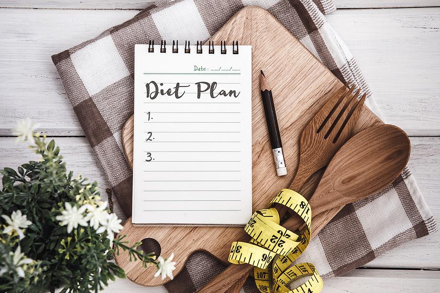 Diet plan notebook.