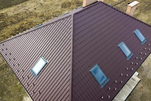 Brown metal roof.