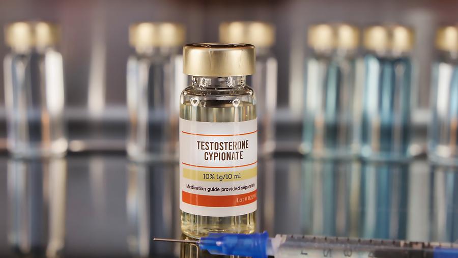 Testosterone Cypionate vial.