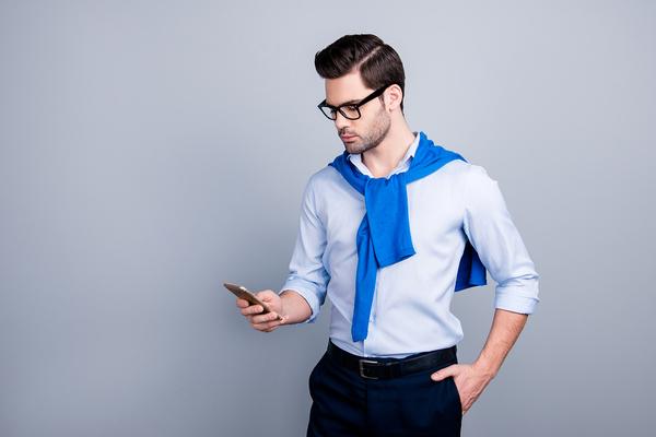 Man looking at his phone.