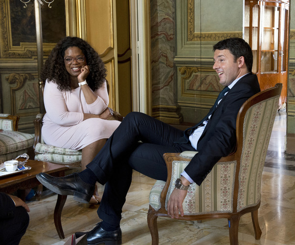 Oprah Winfrey with Matteo Renzi