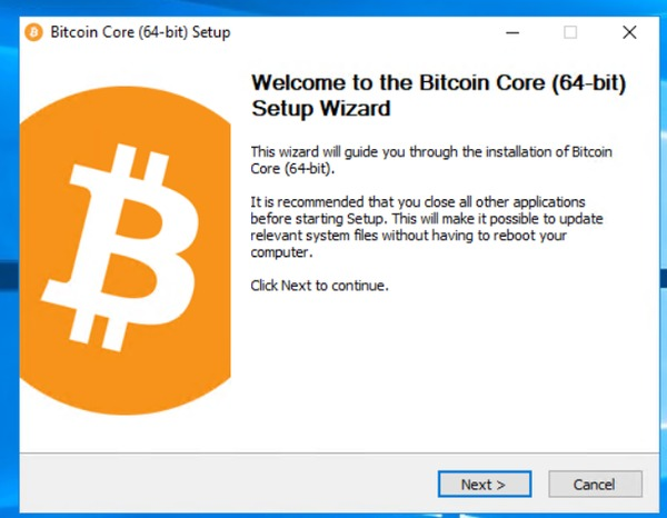Welcome to the Bitcoin Core (64-bit) Setup Wizard
