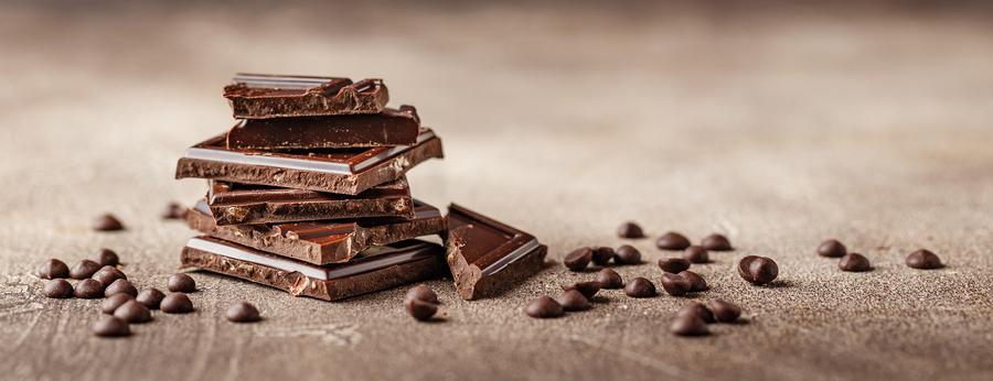 Flat bars of chocolate.