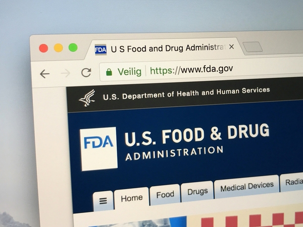 US Food and drug administration home page.