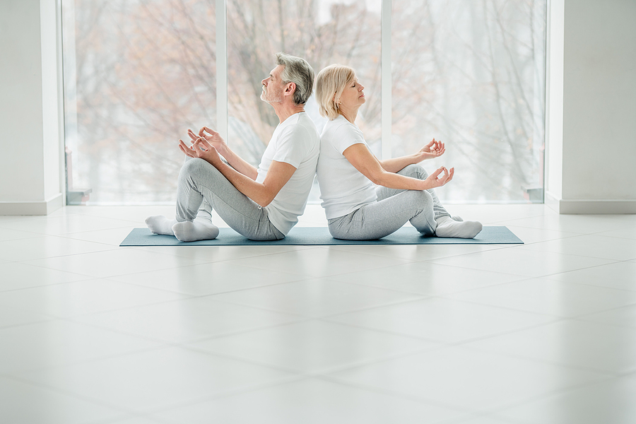 You can practice breathing together with your partner