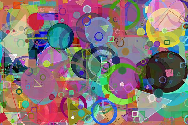 Circular shapes work of art.