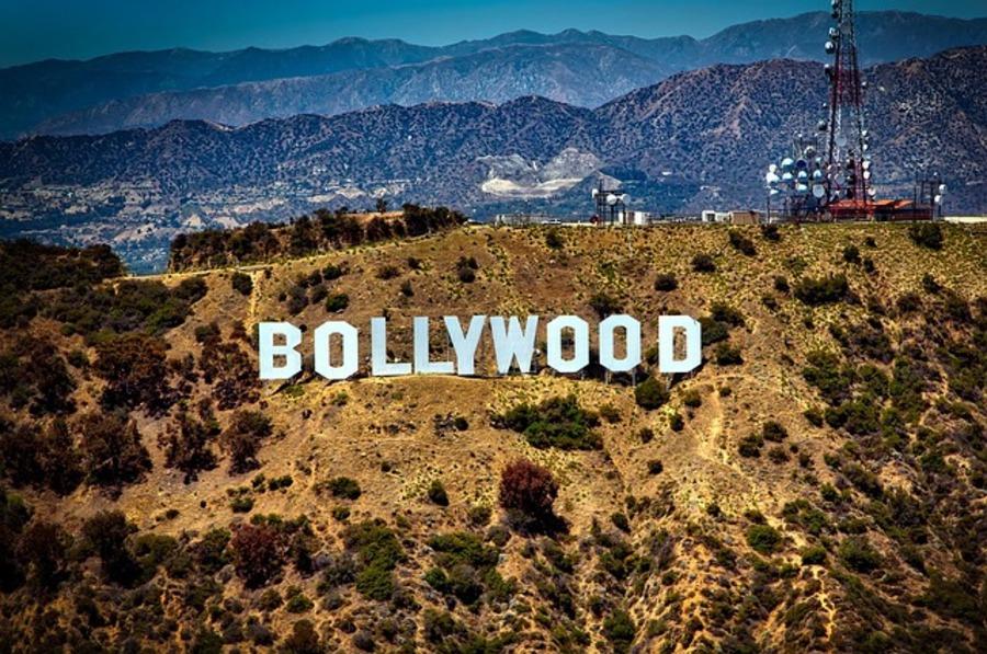 Bollywood sign.
