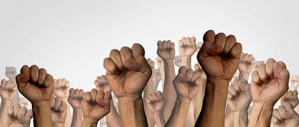 Multiple hands.