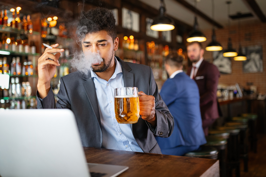 Smoking and drinking can damage your health and lead to ED