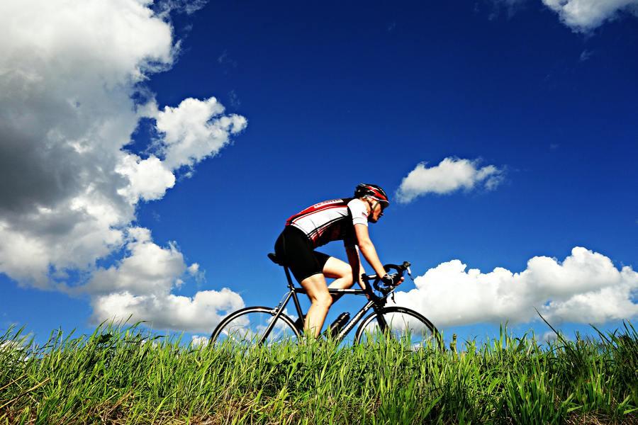 Bicycling.
