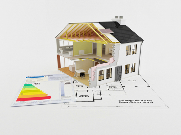 Digital drawing of a home in 3d.