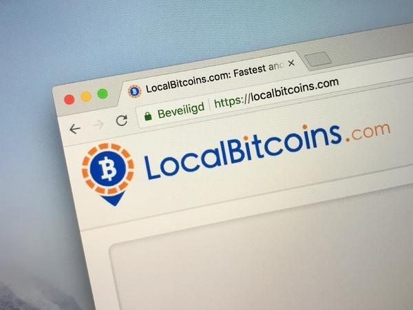LocalBitcoins.com home page.