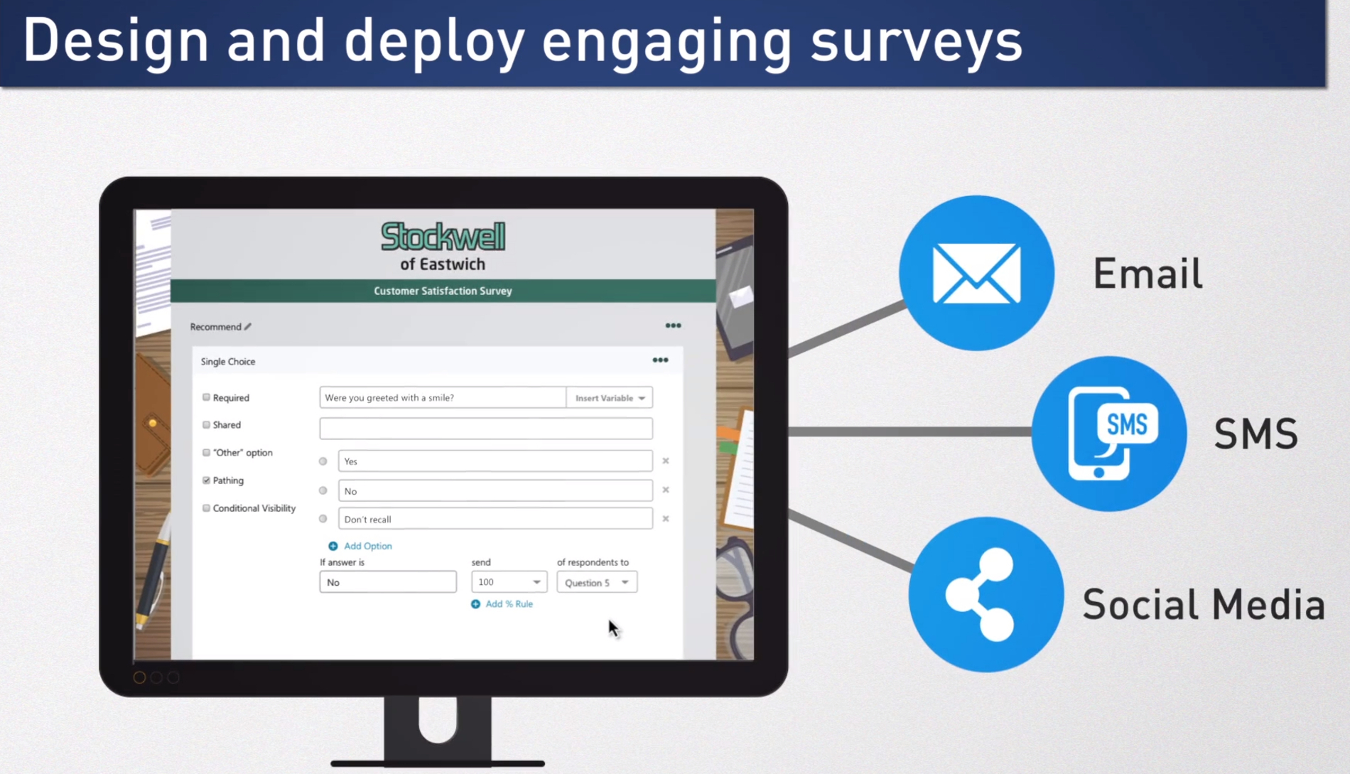 Design and deploy engaging surveys