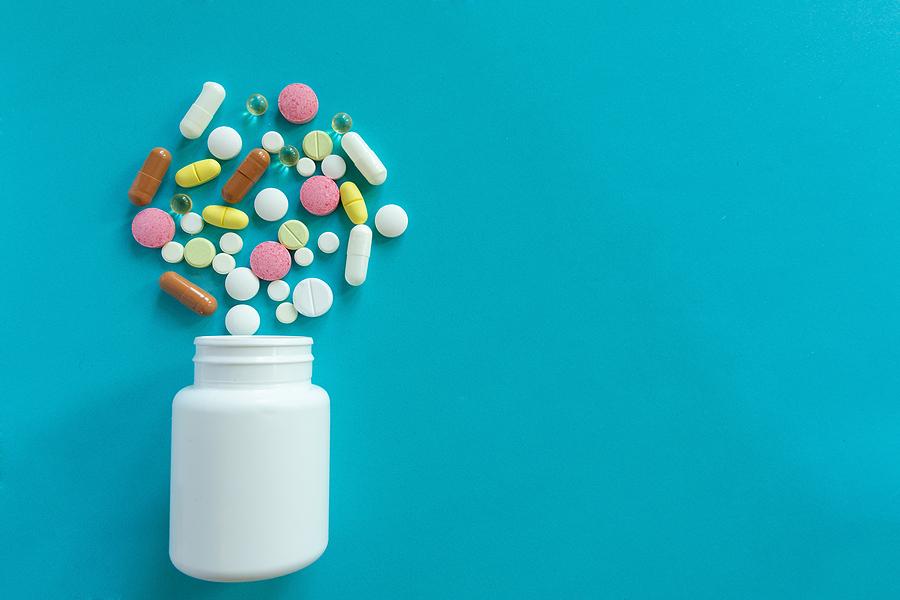 Bottle of pills.