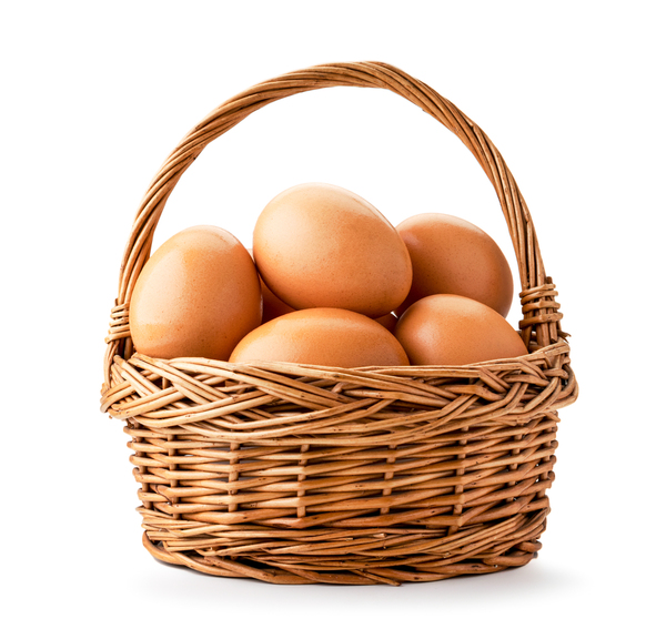 Basket of eggs.