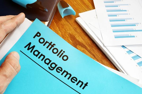 Binder labeled portfolio management.