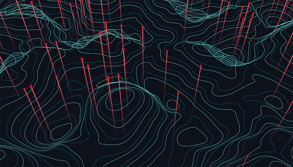 Location intelligence image 3 Topographic line image.