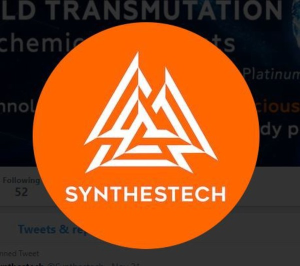 Synthestech logo orange circle with three white triangles in the center.