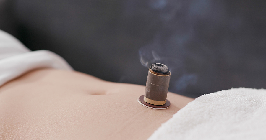 Moxibustion uses heat and herbs to stimulate the flow of energy in the body