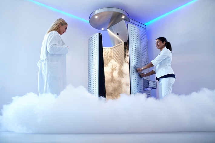 Cryotherapy unit.