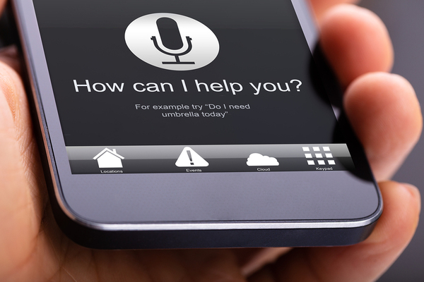 Phone with help app on display.