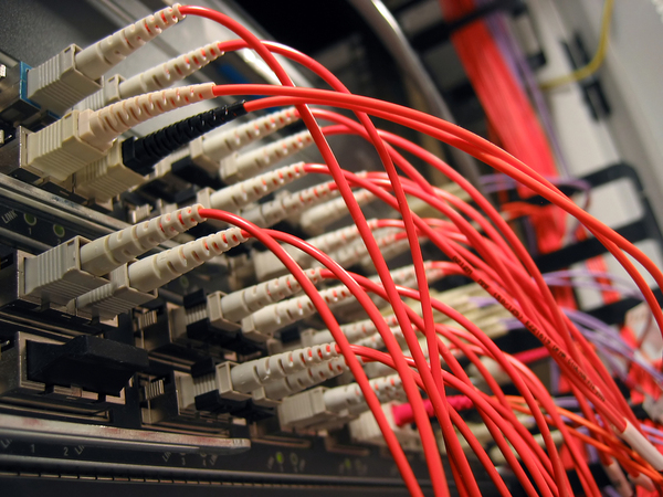 Fiberoptic cables.