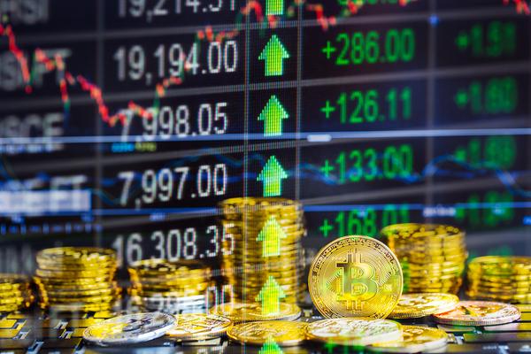 Bitcoin gold coins.