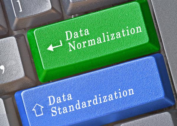 Data normalization and data standardization