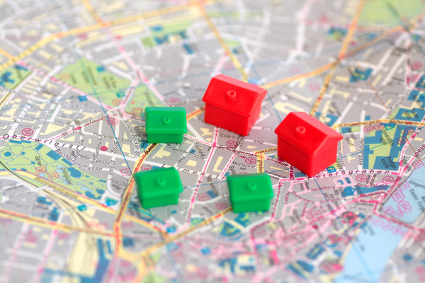 Location Data image - Map with model houses.