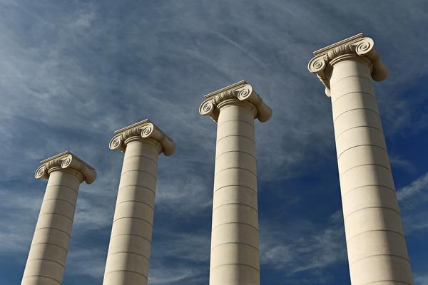 Large columns.