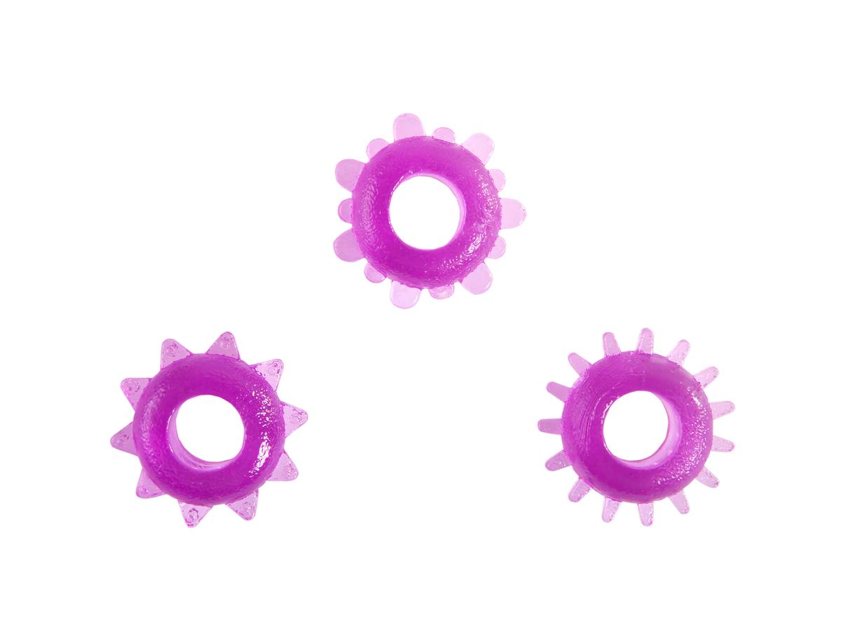 Purple penis rings.