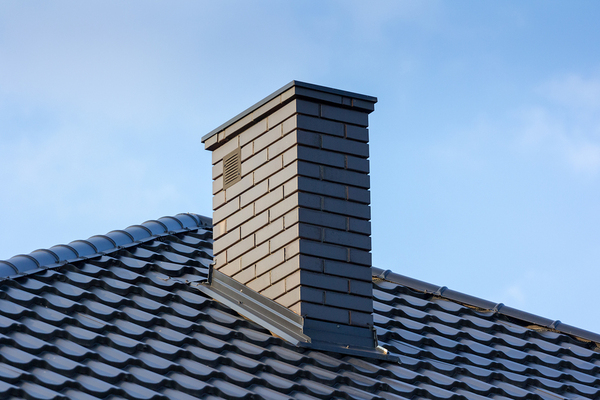 Roof top with chimney.