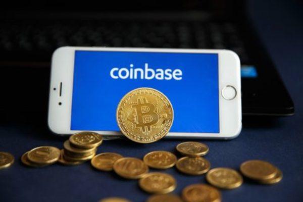 Coinbase app on a phone.