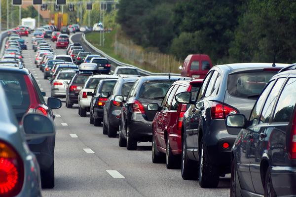 Highway traffic.