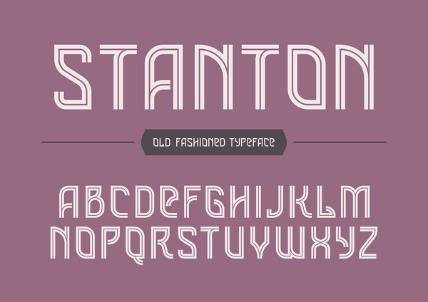 Stanton font style.