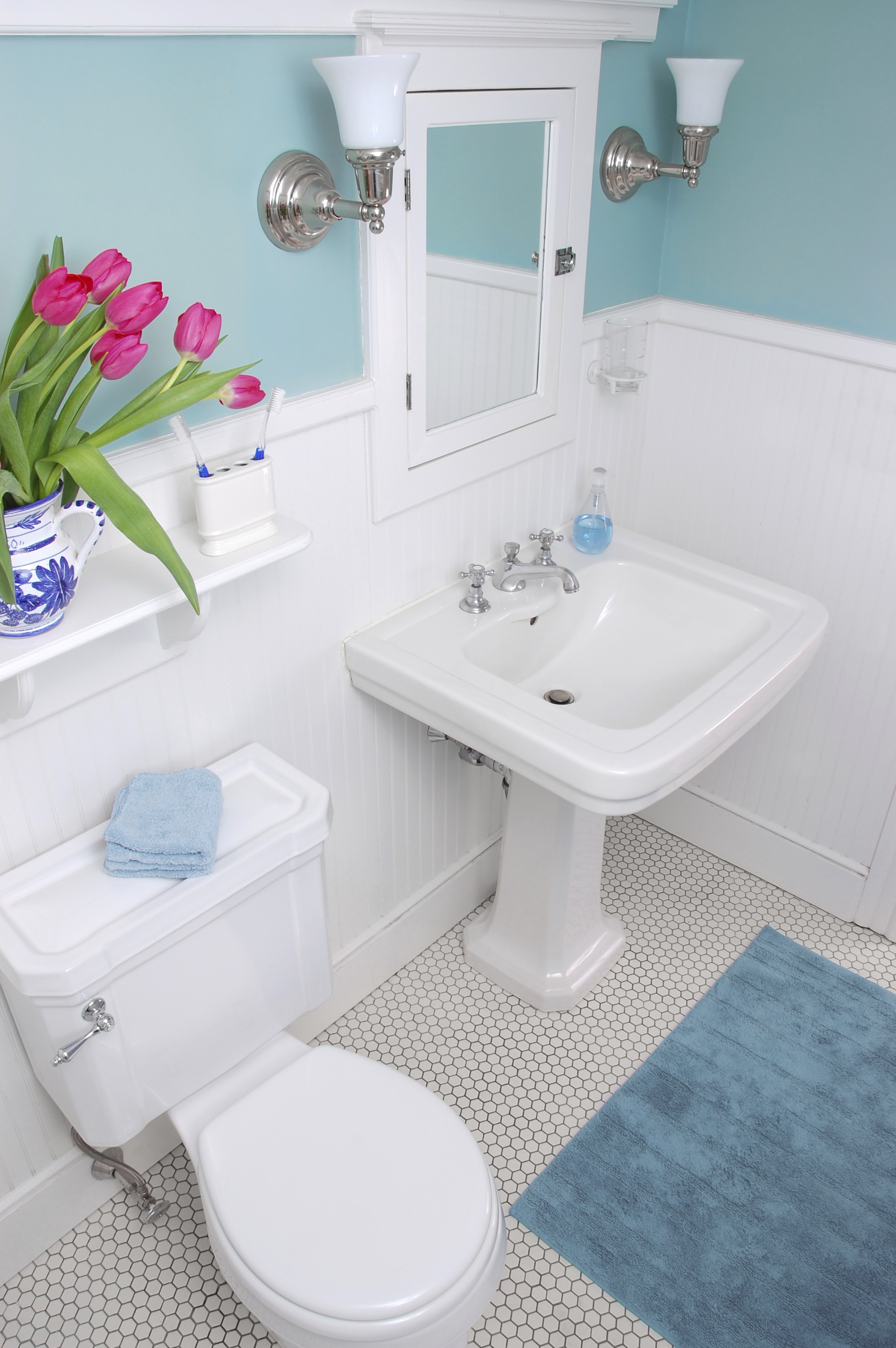 tasty how to decorate a blue bathroom. How to Breathe Life into a Windowless Room  Millennial Living