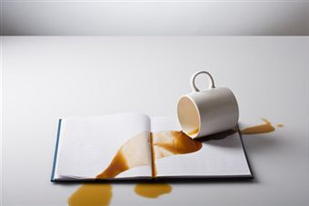 spilled coffee Log book violation